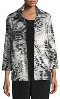 Caroline Rose Abstract Animal-Print Jacket, Plus Size