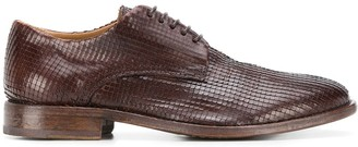 Moma Woven Leather Oxford Shoes