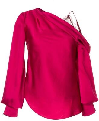Jonathan Simkhai drop shoulder blouse