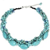 Novica Beaded necklace, 'Gush' - Fair Trade Beaded Necklace