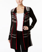 Charter Club Petite Plaid Open-Front Cardigan, Only at Macy's