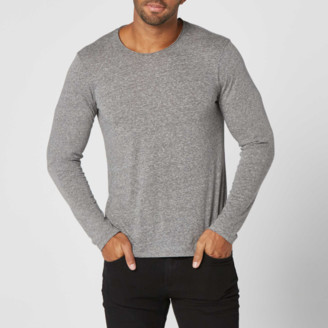 DSTLD Mens Long Sleeve Modern Crew Neck Tee In Heather Grey