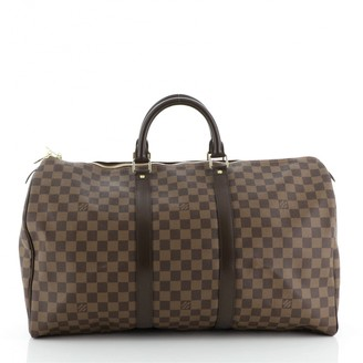Louis Vuitton Keepall Brown Leather Travel bags