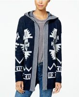 Hippie Rose Juniors' Hooded Aztec Cardigan