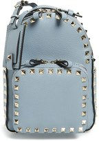 Valentino 'Small Rockstud' Leather Backpack - Grey