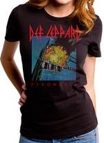Goodie Two Sleeves Black Def Leppard Pyromania Tee - Women