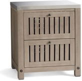 Pottery Barn Abbott Kitchen Two-Drawer Cabinet, Gray Wash