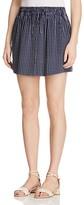 Joie Wendolyn Striped Silk Drawstring Skirt