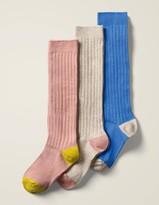 Lusana Boys Kinder-kniestrumpf Meliert Knee-High Socks
