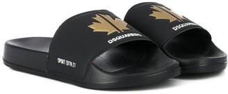 DSQUARED2 Sport Maple Leaf Slides