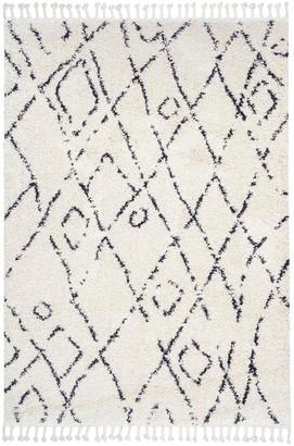 nuLoom Nieves Moroccan Diamond Tassel Rug