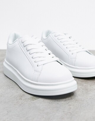 Brave Soul chunky sole trainers in white