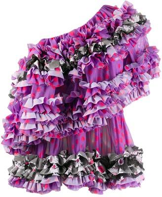 Molly Goddard ruffle-trimmed blouse