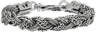 Emanuele Bicocchi Silver Braided Bracelet