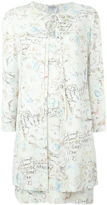 Chanel Pre Owned Two-Piece Printed Suit