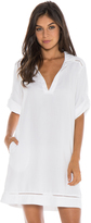 Bella Dahl Pullover Shirt Dress-White-XS