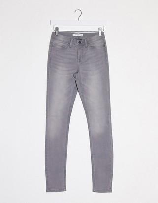 JDY jake regular skinny jeans in gray denim