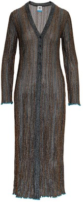 M Missoni Metallic Knitted Long Cardigan