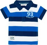 Jo-Jo JoJo Maman Bebe Rugby Shirt (Toddler) - Cobalt navy stripe-2-3