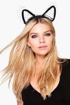 boohoo Halloween Macie Polka Dot Cat Ear Headband