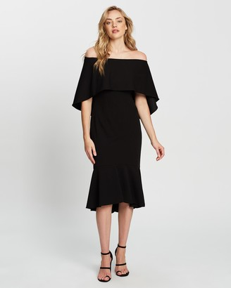 Montique - Women's Black Midi Dresses - Roxy Cocktail Dress - Size One Size, 8 at The Iconic