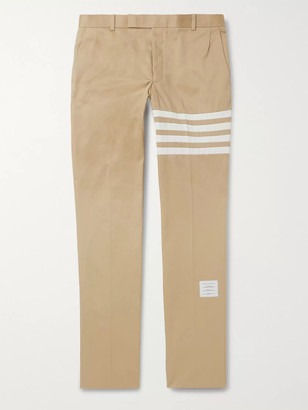 Thom Browne Slim-Fit Cropped Striped Cotton-Twill Trousers