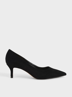 Charles & Keith Textured Pointed Toe Court Shoes