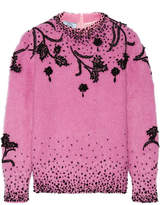 Prada Beaded Mohair-blend Sweater - Pastel pink