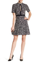 ABS by Allen Schwartz Short Sleeve Tweed Dress