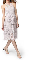 Donna Morgan Lace Halter Fit and Flare Dress