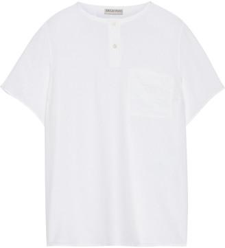 Emilio Pucci Embroidered Silk Crepe De Chine T-shirt