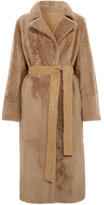 Yves Salomon Reversible Belted Shearling Coat - Brown