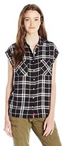 Dickies Women's Roll Cuff Plaid Shirt