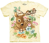 The Mountain Yellow Baby Doe Sublimated Tee - Girls