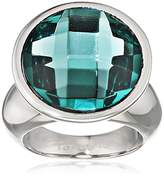 Tamaris Women's Ring Stainless Steel Glass Jane Turquoise Size 52 (16.6)-A03510232