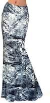 Novias Women Summer Multicolored Print High Waisted Beach Maxi Skirts Long Dress
