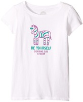 Life is Good Zebra Be Yourself Crusher Tee Girl's T Shirt