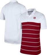 Nike Men's White/Crimson Oklahoma Sooners Striped Polo