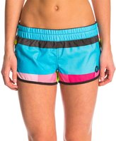 "Hurley Women's Supersuede Printed 2.5"" Beachrider Kingsroad Boardshort 8124858"