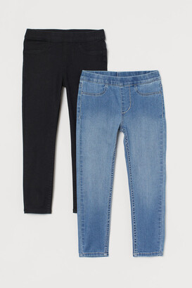 H&M 2-Pack Denim Leggings