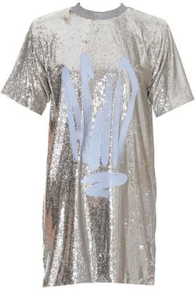 Off-White Acid Sequins T-Shirt Dress