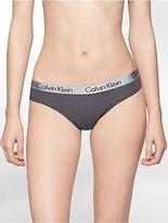 Calvin Klein Womens Logo Cotton Stretch Thong Underwear
