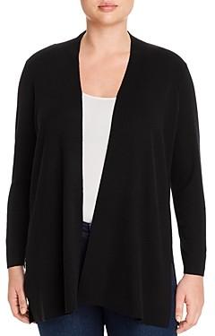 Eileen Fisher Plus Merino Wool Open-Front Cardigan
