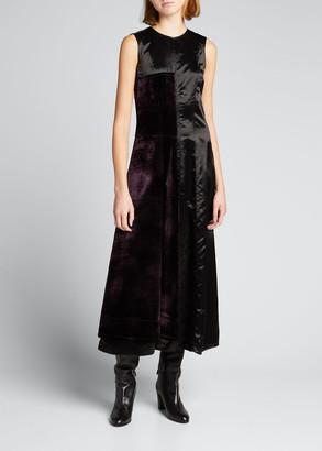 Marni Velvet Panel Twill A-Line Dress