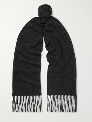 Acne Studios Canada Skinny Fringed Melange Wool Scarf