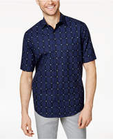 Tasso Elba Men's Grid and Plaid Shirt, Created for Macy's