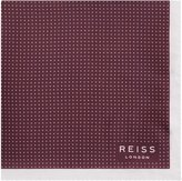 Reiss Nou - Silk Dotted Pocket Square in Red, Mens