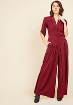 Miss Candyfloss The Embolden Age Jumpsuit in Burgundy in XL
