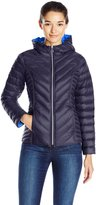 Nautica Women's Reversible Light Down Jacket W/ Hood