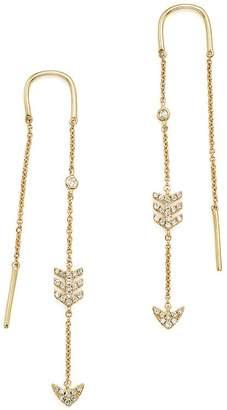 Bloomingdale's KC Designs 14K Yellow Gold Diamond Micro Pavé Drop Chain Earrings